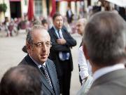 El president del CICAC, Antoni Molas, en l'acte del lliurament del Premi