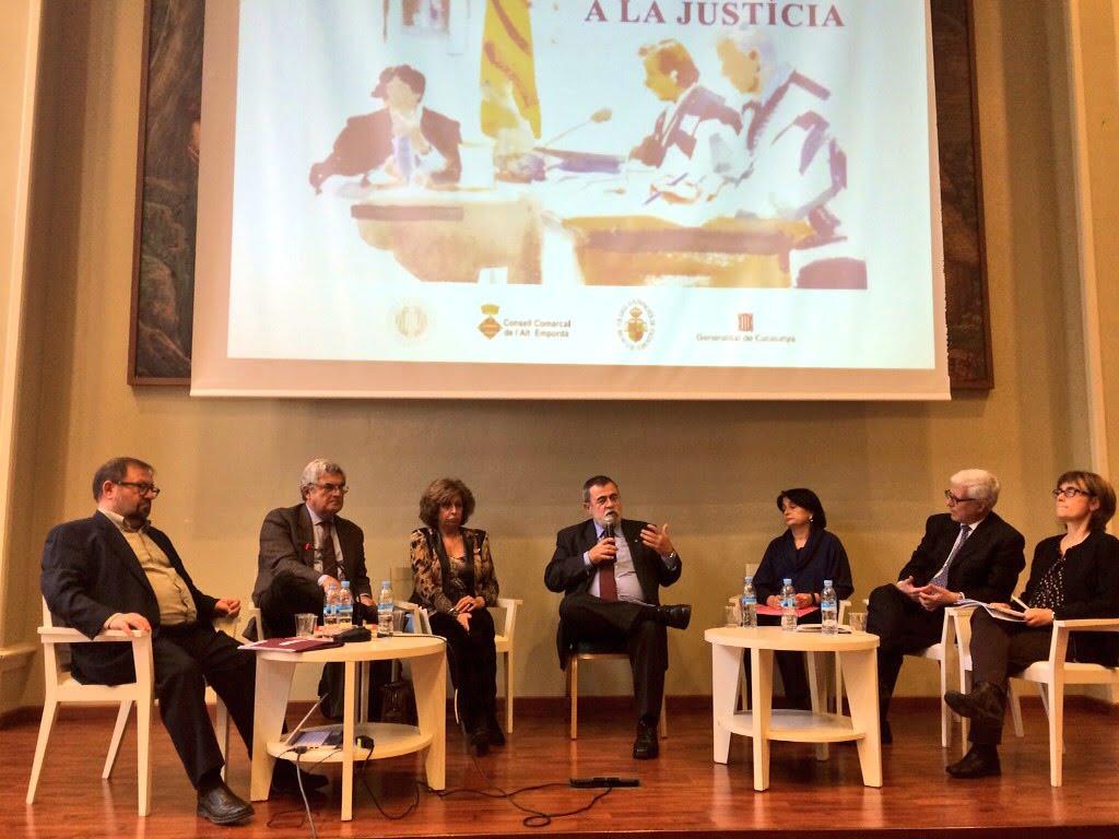 Taula rodona V Jornada sobre l'Ús del Català a la Justícia